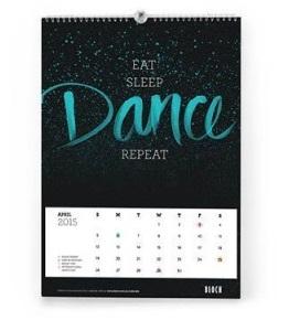 eat sleep dance calendar